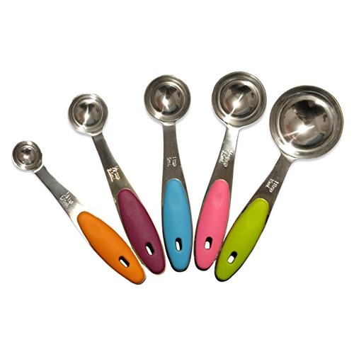 Tominco Measuring Spoons-5 Piece Stainless Steel Kitchen Set-5 Downloadable Ebooks