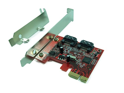 Ableconn PEX-SA115 2-Port SATA 6G PCI Express Host Adapter Card - AHCI 6Gbps SATA III PCIe 2.0 Controller Card (Marvell 88SE9128 Chipset) - Support Hardware RAID 0, 1 (Sata Ahci Controller compare prices)
