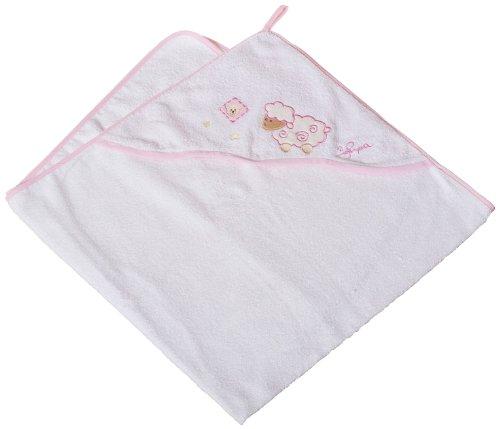 Bieco 10105596 Kapuzentuch Schaf, rosa