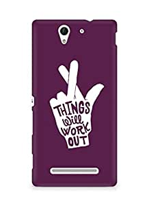 AMEZ things will work out Back Cover For Sony Xperia C3 D2502