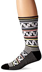 KurB Men's Tnt Sport Fashion Crew Sock, White, 10-13 (shoe size 6-12)