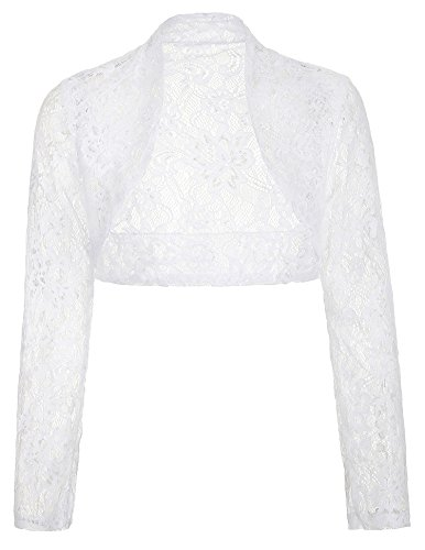 Womens White Lace Bolero Jacket