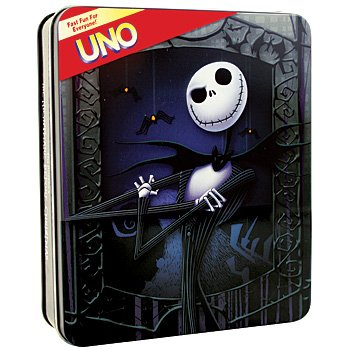 ... : Math Toys: Fundex Games - UNO - NIGHTMARE BEFORE CHRISTMAS (Tin