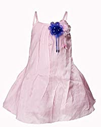 Softouch Girls' Frock (Light Pink_3-4 Years)