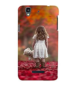 EPICCASE Lonely girl with teddy Mobile Back Case Cover For YU Yureka Plus (Designer Case)