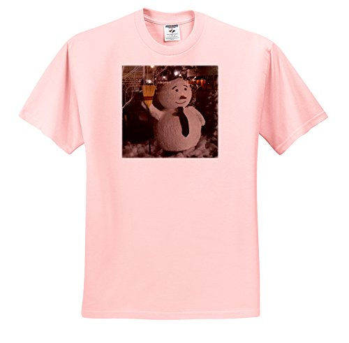 ts_212445_37 Susans Zoo Crew Florida - Snowman with street scene reflection - T-Shirts - Adult Light-Pink-T-Shirt XL