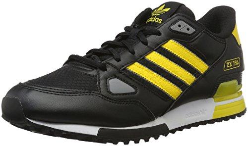 Adidas Zx 750, Scarpe da Ginnastica Uomo, Nero (Cblack/Eqtyel/Chsogr), 43 1/3 EU