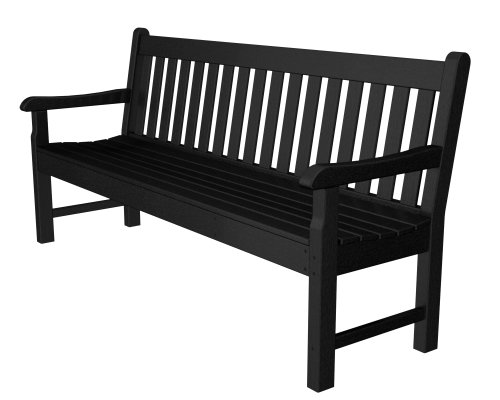 POLYWOOD RKB72BL Rockford 72″ Bench, Black
