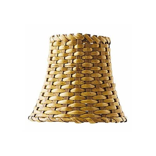 Brown Wicker Chandelier Shade 3 X 6 X 5 - Light Fixture ...