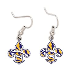 Buy LSU Tigers Official NCAA .5 Earrings by Wincraft by WinCraft