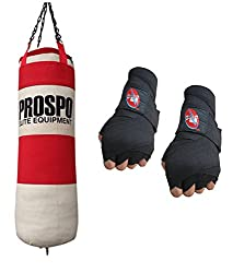 Prospo Water Proof Canvas Punching Bag 36inch With Hand wrap (Heavy Bag)