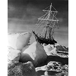 Quality digital print of a vintage photograph - The Endurance trapped by ice in the Antarctic, 1915.Black & White 11x14 inches - Matte Finish