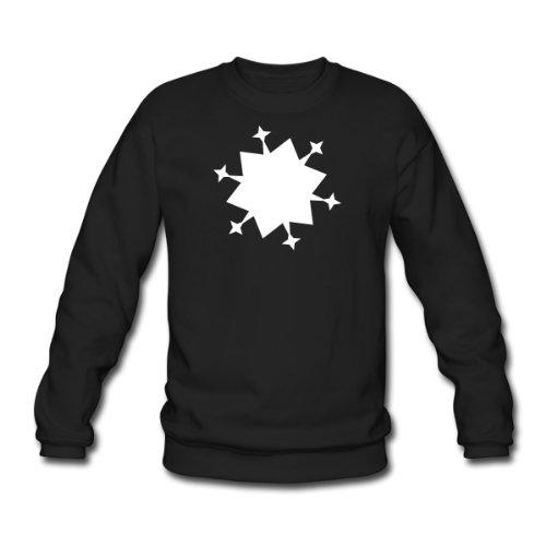 Spreadshirt, schnee2, Men's Sweatshirt, black, XL