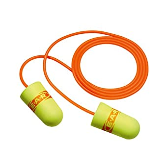 3M E-A-R E-A-Rsoft SuperFit Corded Earplugs, Hearing Conservation 311-1254 in Poly Bag Regular Size