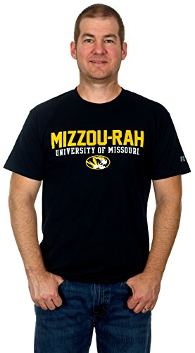 University of Missouri Tigers Men's Short Sleeve Cotton T-Shirt (X-Large) (Missouri Football Gloves compare prices)