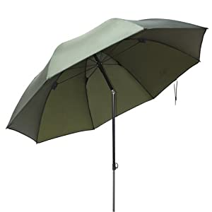 Ultra Fishing Angling 1.72m Umbrella without Zip Sides Windows Brolly from Ultra