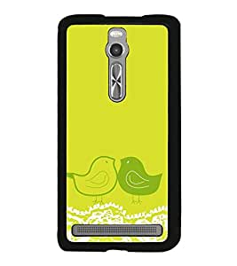 Vizagbeats Animated Girl Beach Background Back Case Cover for ASUS ZENFONE 2