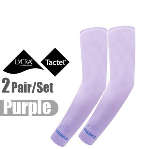 Buy Low Price 2 Pairs, Elixir Golf Tennis Sport Bowling Protect Cooling Arm Sleeves, N3-PL2P (B0057LYME2)