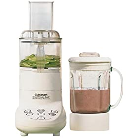 Factory Reconditioned Cuisinart FPB-5PCFR SmartPower 5-Speed Duet Blender/Food Processor, White