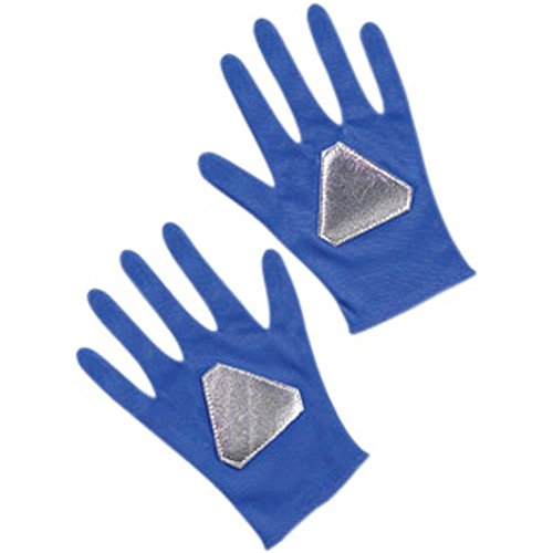 Child's Blue Power Ranger Costume Gloves