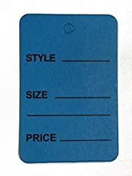 1000pcs Blue Color One Part Unstrung Perforated Price Coupon Tag Clothing Price Labels/clothing Tag/perforated Price Coupon Tags 1 1/4\