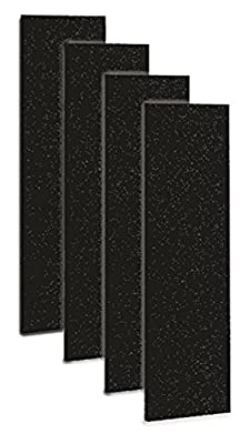 Carbon Activated Pre-Filter for use with the GermGuardian FLT4825 HEPA Filter, for AC4300/AC4800/4900 Series Air Purifiers, Filter B, Pack of 4, By Breezeco