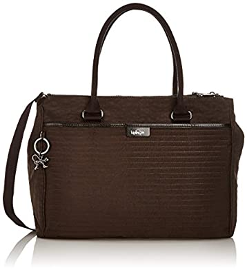 Kipling HALIA QU Coffee Brown Q K1062478X Damen Schultertaschen 37x29x14 cm (B x H x T), Braun (Coffee Brown Q 78X)