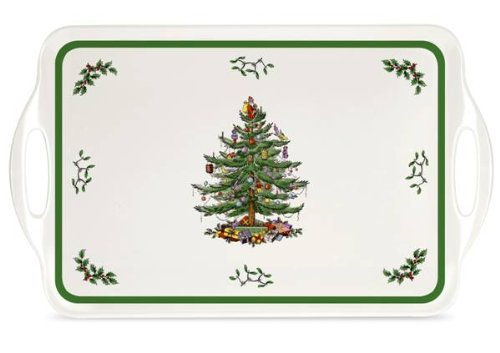 Spode Christmas Tree Melamine Serving Tray with Handles, 19-1/4-Inch (Christmas Tray compare prices)