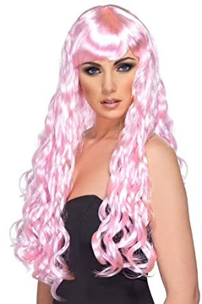 Smiffy's Desire Wig, Pink, One Size