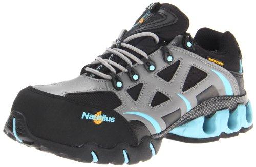 Nautilus Safety Footwear Women'S 1852 Work Shoe,Grey/Aqua,10 M Us