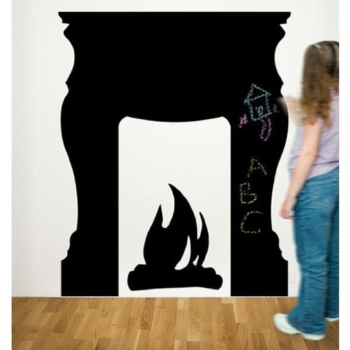 Fireplace Chalkboard Wall Stickers