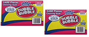Dubble Bubble Chewing Gum - 5400 pcs. (2 Pack)
