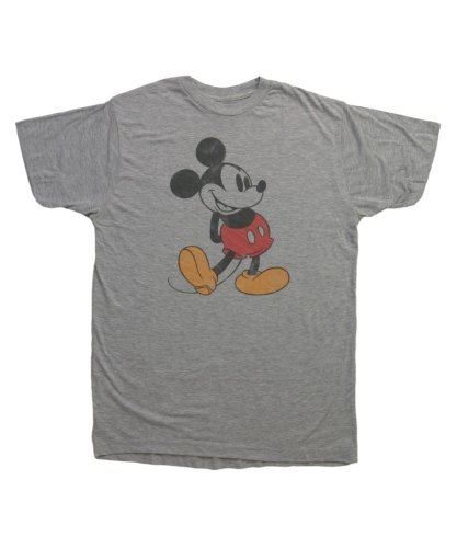 Mickey Mouse Classic Disney Vintage Style Mighty Fine Adult T-Shirt Tee Select Shirt Size: Large