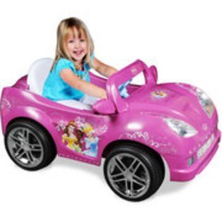 Power wheels barbie disney princess girls 39 convertible for Motorized barbie convertible car