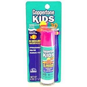Coppertone Kid Stick SPF#30 .6 oz. 6 Hour Waterproof Blister