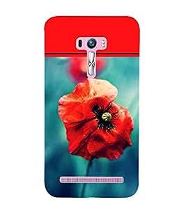 Red Flower 3D Hard Polycarbonate Designer Back Case Cover for Asus Zenfone Selfie ZD551KL