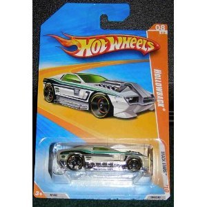 HOT WHEELS 2010 TRACK STARS 09 OF 12 064/240 WHITE W/GREEN & BLACK STRIPES HOLLOWBACK