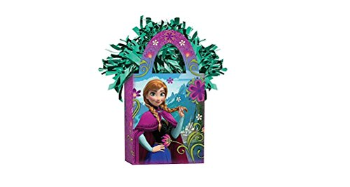 Amscan Girls Disney Frozen Mini Tote Party Balloon Weight, 5.7 oz, Violet/Green - 1