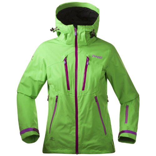 Bergans Trolltind Lady Jacket, Size:M;Colours:Timothy Green/Dark Tulip Pink