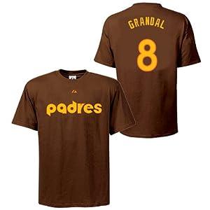 Yasmani Grandal San Diego Padres Brown Player T-Shirt by Majestic by Majestic