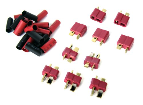 5 Pairs of Deans-type Connectors - 5 Male and 5 Female