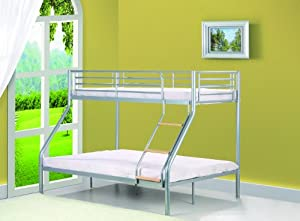 Single 3ft / Double 4ft6 Triple Metal Bunk Bed WITH mattresses