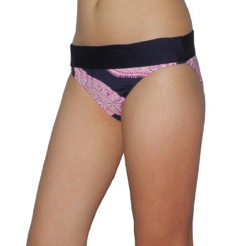Womens Lascana Soft & Smooth Surf Swim Bikini Trunks / Bottom - Quick Dry - Blue & Pink