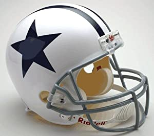 Dallas Cowboys 1960-1963 Throwback Riddell Full Size Deluxe Replica Football Helmet -... by Sports Memorabilia