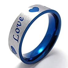 buy Mens Rings Stainless Steel Love Heartdpromise Couples Wedding Bands 17Mm Size 8 By Aienid
