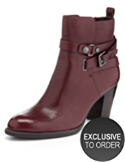 Autograph Leather Strap Boots with Insolia®