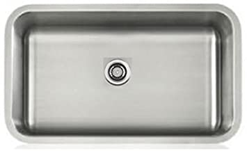 Lenova LS16603 Apogee 16-Gauge Stainless Steel Single Bowl Rectangle Undermount Kitchen Sink
