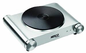 Nesco SB-01 Stainless Steel Electric Burner, 1500-watt by Nesco