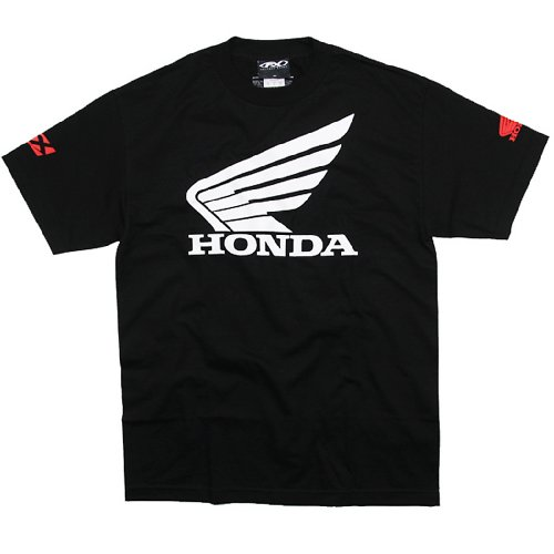 Factory Effex 'Honda' Big Wing T-Shirt (Black, Medium) image