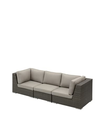 Jeffan Outdoor Group 3 Sectional with 2 Corners + 1 Center, Grey